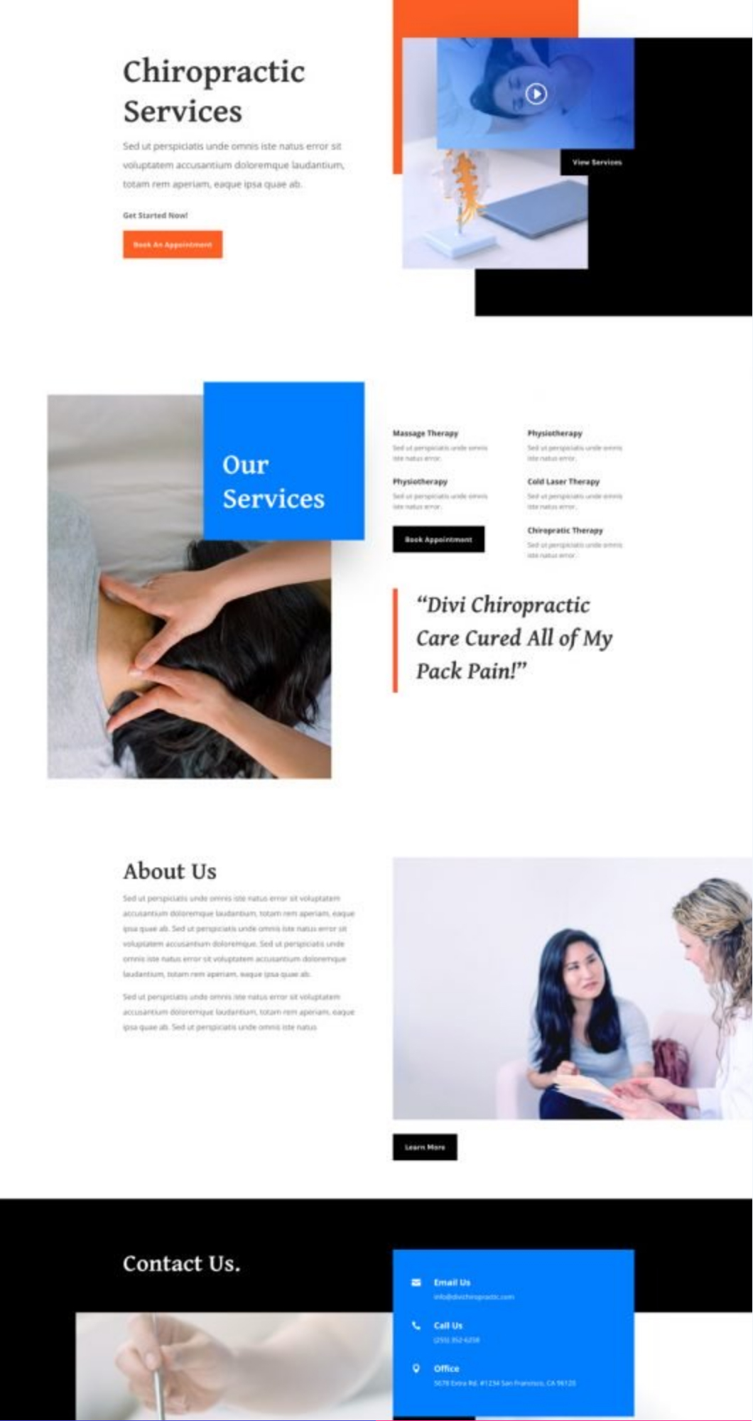 Chiropractor Home Web Template