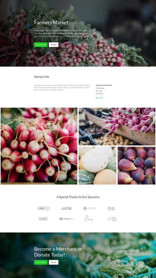 Farmers Market Home Page Web Template